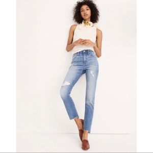 Madewell High Rise Slim Boy Jeans in Lita wash